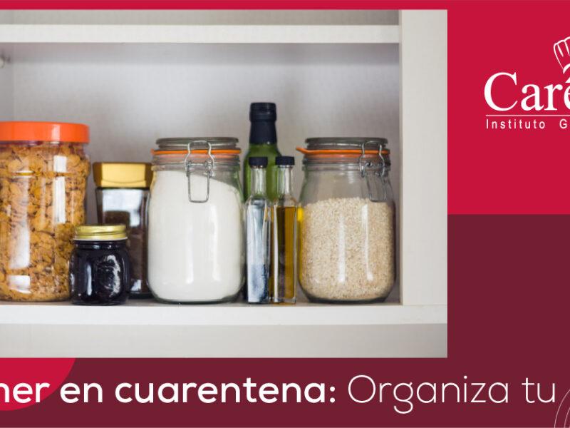 Comer en cuarentena: Organiza tu menú